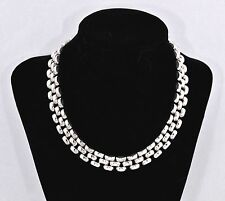 """Bold Panther Link Italian Sterling Silver 16"""" Necklace Polished Finish (55 gm !)"""