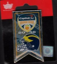 2016 ORANGE BOWL BANNER PIN MICHIGAN WOLVERINES CAPITAL ONE SHIPPING NOW!!