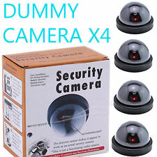 4 Pack Dummy Fake Security CCTV Dome Camera with Flashing Red LED Fake Camera OY