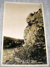 Old Man of the Dalles - Taylors Falls MN Real Photo Postcard - RPPC