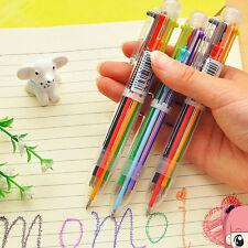 6 Colors 0.5mm Oily Ink Ballpoint Office School Smooth Writing Ball Pens Fancy