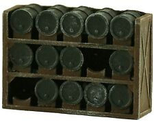 Model Tech Studios D1074P – Oil Drum Storage Racks – N Scale