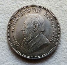 1896 SILVER SOUTH AFRICA 2 1/2 SHILLINGS COIN ABOUT UNCIRCULATED CONDITION