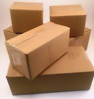 25 8x4x4 Corrugated Cardboard Shipping Boxes -Packing -Cartons -Mailing -Moving