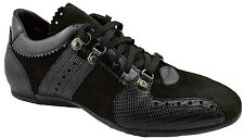 $525 CESARE PACIOTTI Black Suede Leather Casual Sneakers Men Shoes 41 / 7