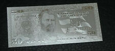 50 Dollar Silver Usa Bill Each In Hard Bill Holder Great Collectible Gift.