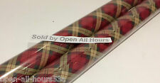 2 x Rolls of Tartan Wrapping Paper Christmas Birthday Each Roll 3 m x 69 cm