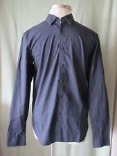 Mens Marc Ecko Cut & Sew Basic Black LS Dress Shirt NWT $79.50 Jig Jag Pattern M