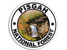 4x4 inch Round PISGAH National Forest Sticker -decal hike hiking rv carolina nc
