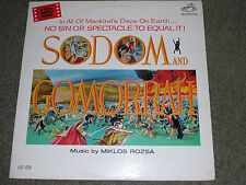 "SODOM and GOMORRAH (VG+) 1963 Rozsa- Soundtrack (EX) 12"" 33 RPM RCA Victor LP"