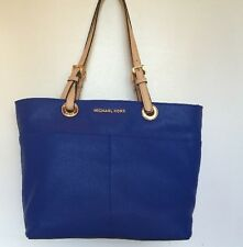 MICHAEL Kors Tote Soft Eletric Blue Pocket Size MD Handbag   General Leather