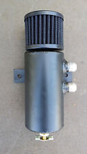 Baffled Aluminum Breather Tank / Oil Catch Can Tube -10 AN All Black Right