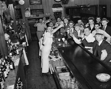 End of prohibition Bar Drinks Toast Black and White Art  Print Poster