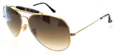 RAY BAN 3029 62 OUTDOORSMAN II GOLD HAVANA LENS BROWN GRADIENT REMIX SFUMATO