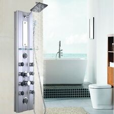 "Shower Thermostatic Tower Bathroom  Aluminum 46"" Panel 10 Massage Jets NEW"