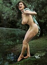 Vintage 1963 Nude by a stream 5 x 7 Photograph