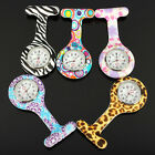1× Nurses Doctors Brooch Clip Tunic Medical Analog Quartz Fob Pocket Watch