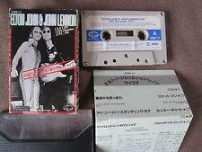 ELTON JOHN&JOHN LENNON Live! Nov-1974 JAPAN CASSETTE w/SLIP CASE+INSERT K28W-117