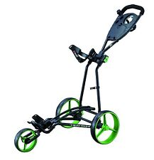 Big Max autofold Plus - 3-rad - golf trolley color black-Lime,! nuevo!