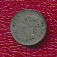 1898 STRAITS SETTLEMENTS SILVER FIVE CENT **.0349 ASW KM #10** FREE SHIPPING!