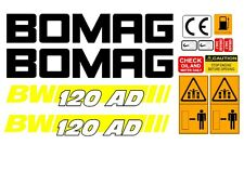 BOMAG BW 120AD-4 VIBRATING ROLLER DECALS STICKERS