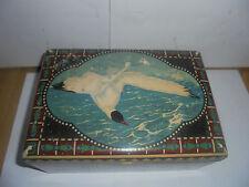 25929 Blechdose Jugendstil Möve tin Art Nouveau seagull 23x16x10cm deutsch