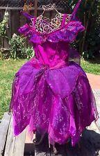 DISNEY STORE UK VIDIA TINKERBELL PURPLE FAIRY FAIRIES COSTUME DRESS GIRLS S 5 6
