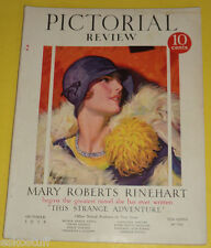 Pictorial Review Magazine October 1928 McClelland Barclay Pretty Lady Cover See!