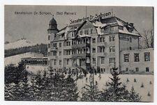 Alte unbeschriftete s/w Postkarte Sanatorium Dr.Schoen/Bad Reinerz - kl. Zustand