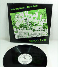 "SCHOOLY-D ""Saturday Night"" UK 1987 Hip Hop M- LP Flame Records 80s"
