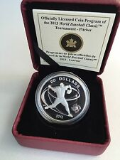 2013 Canada $20 1 Oz Proof Silver Coin World Baseball Classic Tournament Pitcher