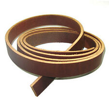 "9/11oz Latigo Leather Strip 72"" Strap Belt - 3/4"" Brown"