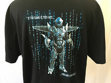 Intel Logo Mens Polo Shirt XL Robot You Are Too Old Not Sold In Stores Employee