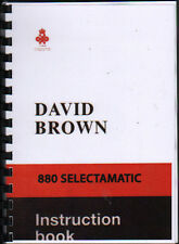 "David Brown ""880 Selectamatic"" Instruction Manual"