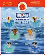2012 McDonalds Ice Age MIP Complete Set - Lot of 6, Boys & Girls, 3+
