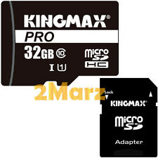 Kingmax Pro 32GB 32G UHS-I Micro SDHC TF Card+SD Adapter Mobile C10 80MB/s 533x