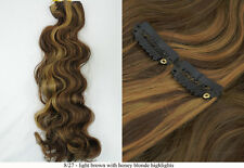 Recurlable Synthetic Hair CLIP ON IN Extensions 7 pc - Body Wave 22""