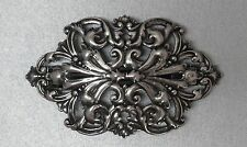 #8269 ANTIQUED SS/P 70MM WITH OPEN FILIGREE DESIGN BARRETTE - 1 Pc Lot
