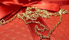 14K 585er Massiv Kette Collier Halskette Goldkette Gold 5,45 Gramm 61 cm