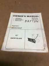 "MTD Model 199-465A 42"" Snow Blade Owners Manual"