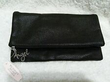 VICTORIA'S SECRET ANGEL BLACK FOLD OVER CLUTCH WALLET/MAKEUP BAG PURSE & GFT NEW