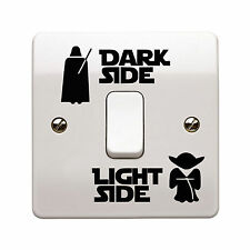 Star Wars Dark Light Side Switch Vinyl Decal Sticker Child Room Lightswitch Wall