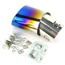 BORUiT Bent 1.5-2.2 T  Car EXHAUST Pipe  Colourful Chrome Round Tail Muffler Tip