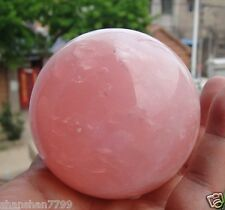 Natural Pink Rose Quartz Magic Crystal Healing Ball Sphere 80MM + Stand AW