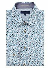 Men's Ted Baker Blue Rudeboi Floral Print Smart Shirt Size 17 RRP-£76