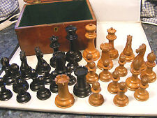 ANTIQUE JAQUES STAUNTON  CHESS SET  4.5 INCHES HIGH KINGS