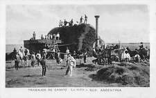 La Trilla Argentina Camp Workers Farming Real Photo Antique Postcard K16753