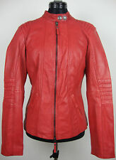TOM TAILOR LEATHER JACKET Bikerjacke Damen Lederjacke Rot Gr.XL NEU mit ETIKETT