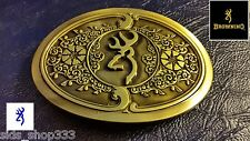 ✖ Beautiful Browning Logo Belt Buckle Full Metal Scroll Bronze color USA Country