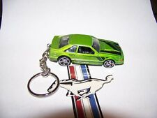 CUSTOM MADE..1992 FORD MUSTANG (GREEN MET./BLACK)  KEYCHAIN..GREAT GIFT!